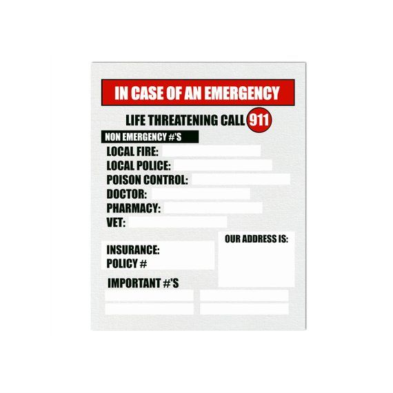 Kitchen Magnet In Case Of Emergency Sign 5 5x4 2 Etsy In Case Of Emergency Emergency Kitchen Magnet