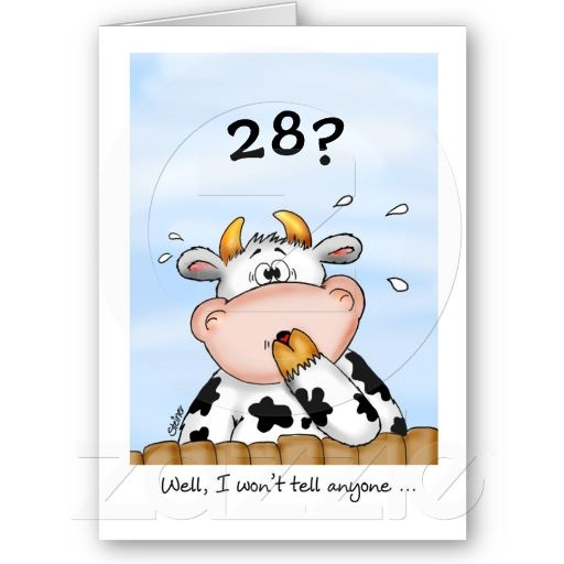 68 best happy birthday images on pinterest birthdays happy 28th birthday humorous card with surprised cow bookmarktalkfo Gallery