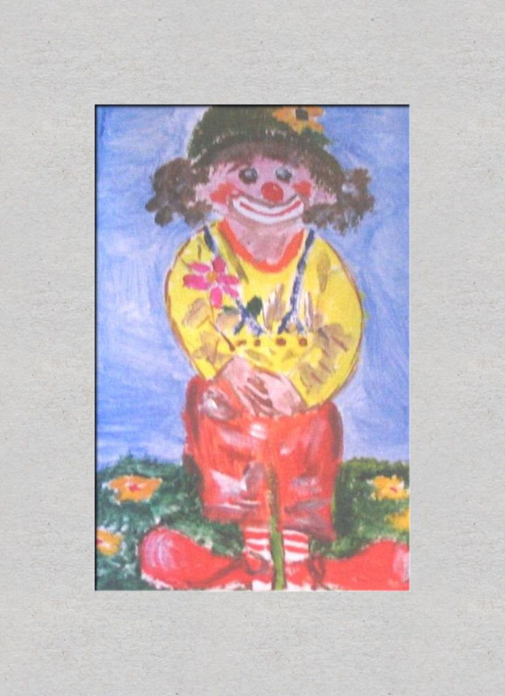 Clown met bloemen