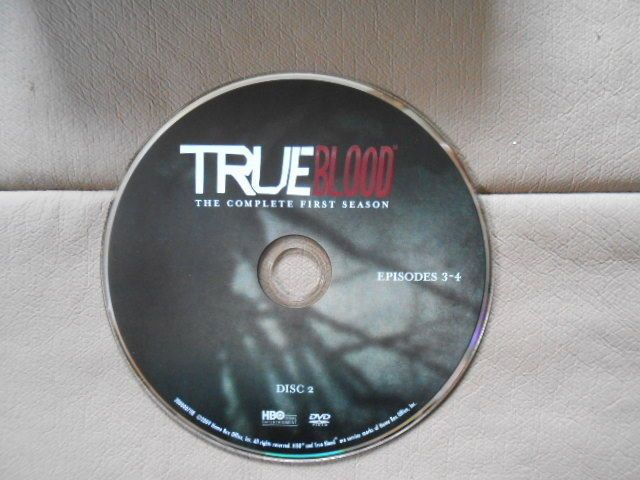 TRUE BLOOD REPLACEMENT DVD True Blood Season 1 (Disc 2 Only) Episodes 3-4