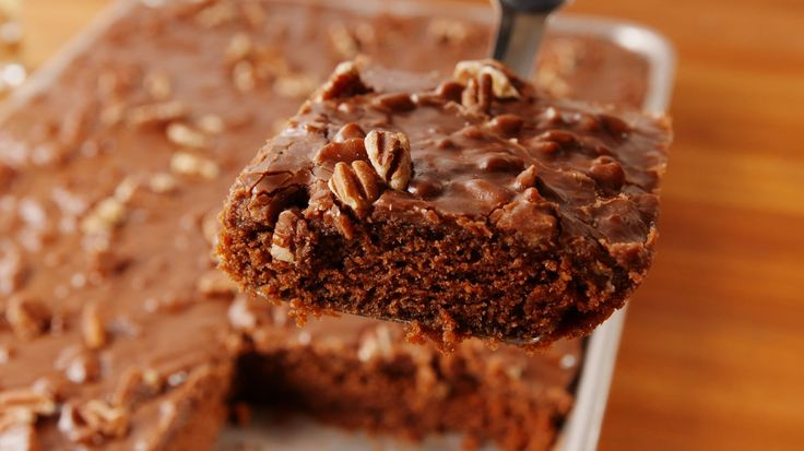 Your Endless Search For The Best Chocolate Cake Ends With This Texas Sheet Cake   - Delish.com