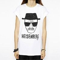 Wish | Women Breaking Bad Walter Heisenberg Sketch Face White T Shirt Blouse XS-2XL
