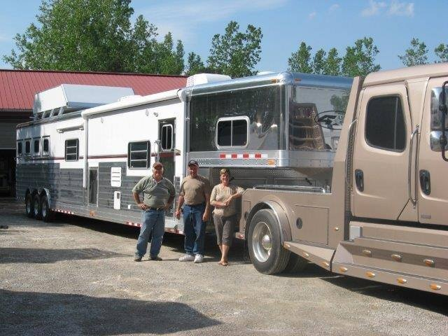 24 best granton trailers 4 star trailers images on pinterest morgan grant with michel suzanne desjardins of ottawa ontario hooked up to their new 4 star 4 horse slant load living quarters trailer with double slide sciox Image collections