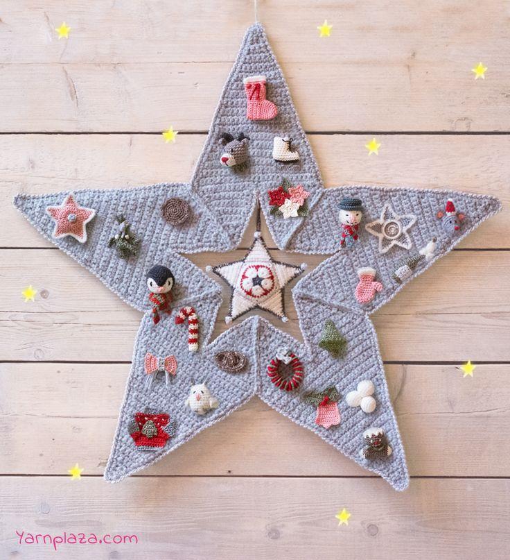 advent star calendar crochet patterns christmas