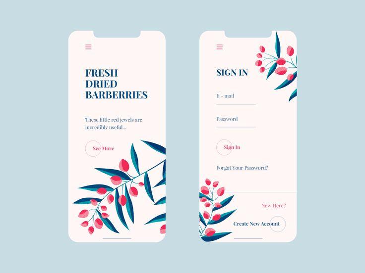 Fresh Barberries – Mobile Design