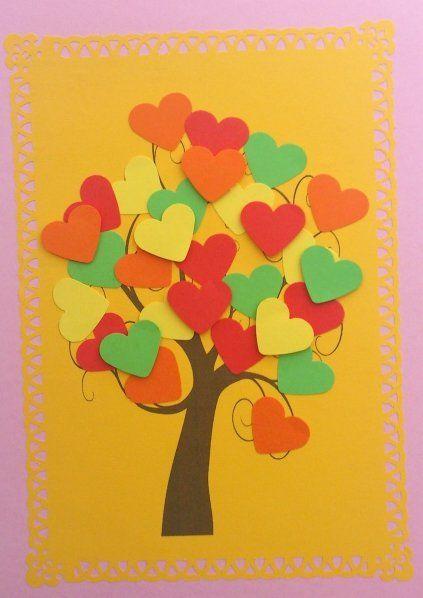 Jednoduché vďakyvzdania remeslá pre deti.  Vďačný Paper Výdatné Stromy Návody