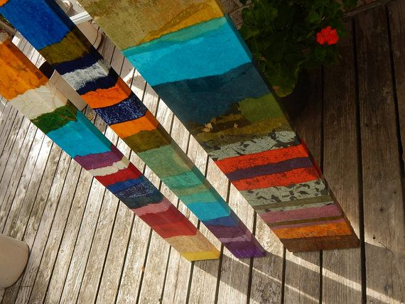Resumen mixta arte pintura se inclinó paneles de gran por MAUSART