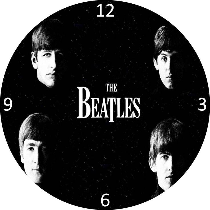 CLARIC ARTWORK - PRESENTES PERSONALIZADOS: Relógios de disco de vinil dos Beatles