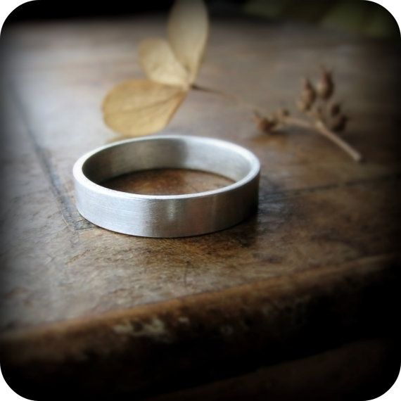 Recycled palladium ring 4mm wedding band by junedesigns on Etsy, $336.00