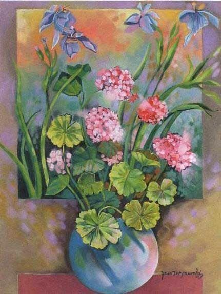 Flores roxas, 1989Yara Tupinambá (Brasil, 1932)óleo sobre tela colada em eucatex, 85 x 65 cm