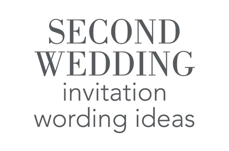 2nd Marriage Wedding Invitations: 17 Best Ideas About Second Wedding Invitations On