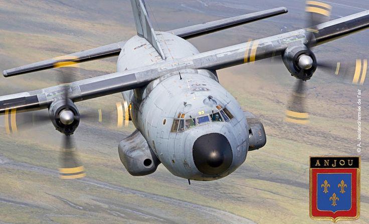 """L'escadron de transport (ET) 2/64 """"Anjou"""", stationed on base aérienne d'Évreux with Transall C-160 transports celebrate 70 years."""