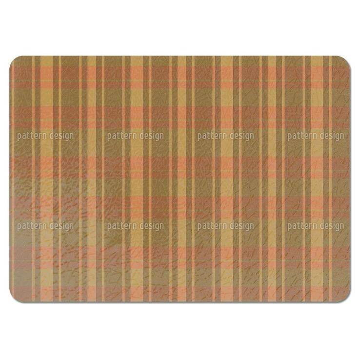 Uneekee Tartan Brown Placemats (Set of 4) (Tartan Brown Placemat) (Polyester)