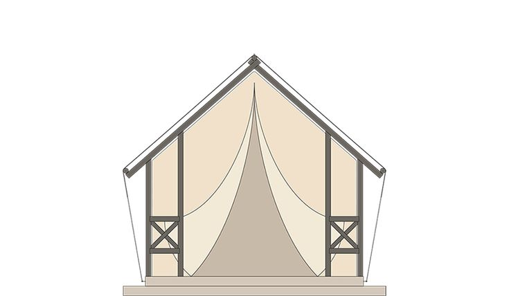 GLAMPING TENT  Overall sleeping places 6 Body length 5,2 m Total width 7,8 m