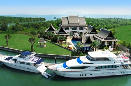 not too shabby :): Water Fantasy Dreams, Dreams Houses, Fantasiesdream Pools, Phuket Property, Houses Hunters, Houses Decor, Tropical Houses, Fantasy Dreams Pools, Private Yachts