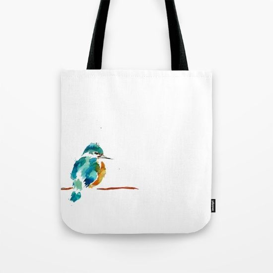 Golden Kingfisher Tote Bag by Art By Chrissy Taylor - $22.00