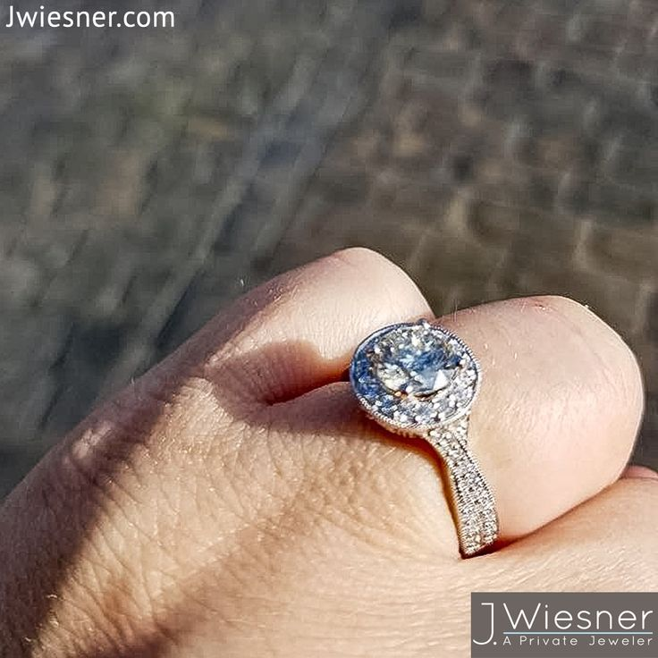 Custom Diamond Shank Engagement Ring. To Design Your Own Custom Ring In San  Diego Visit
