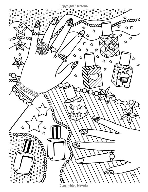 Girl Stuff: 24 Totally Girly Coloring Pages: Dani Kates