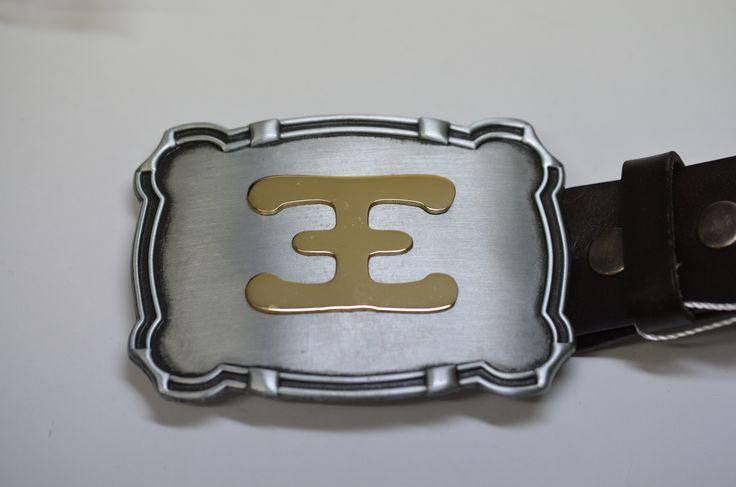 Sheep brand on belt buckle