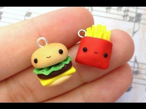 CharmingDelights for Sweetorials #hamburger #kawaii #polymerclay
