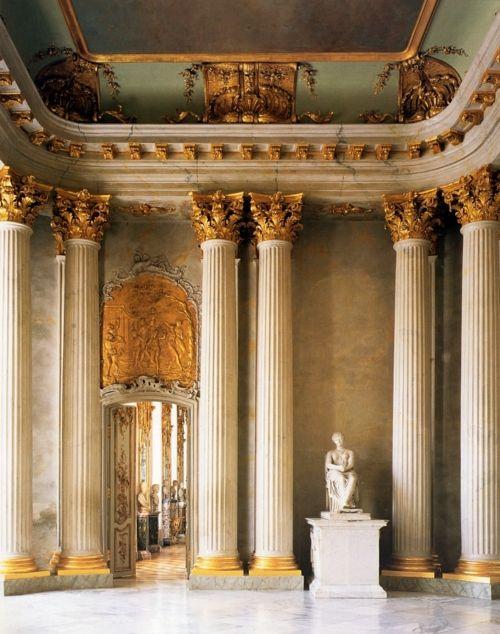 Sanssouci Palace -- Entrance Hall, Potsdam, Germany