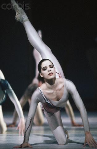 "Darcey Bussell in The Royal Ballet's ""Requiem."""