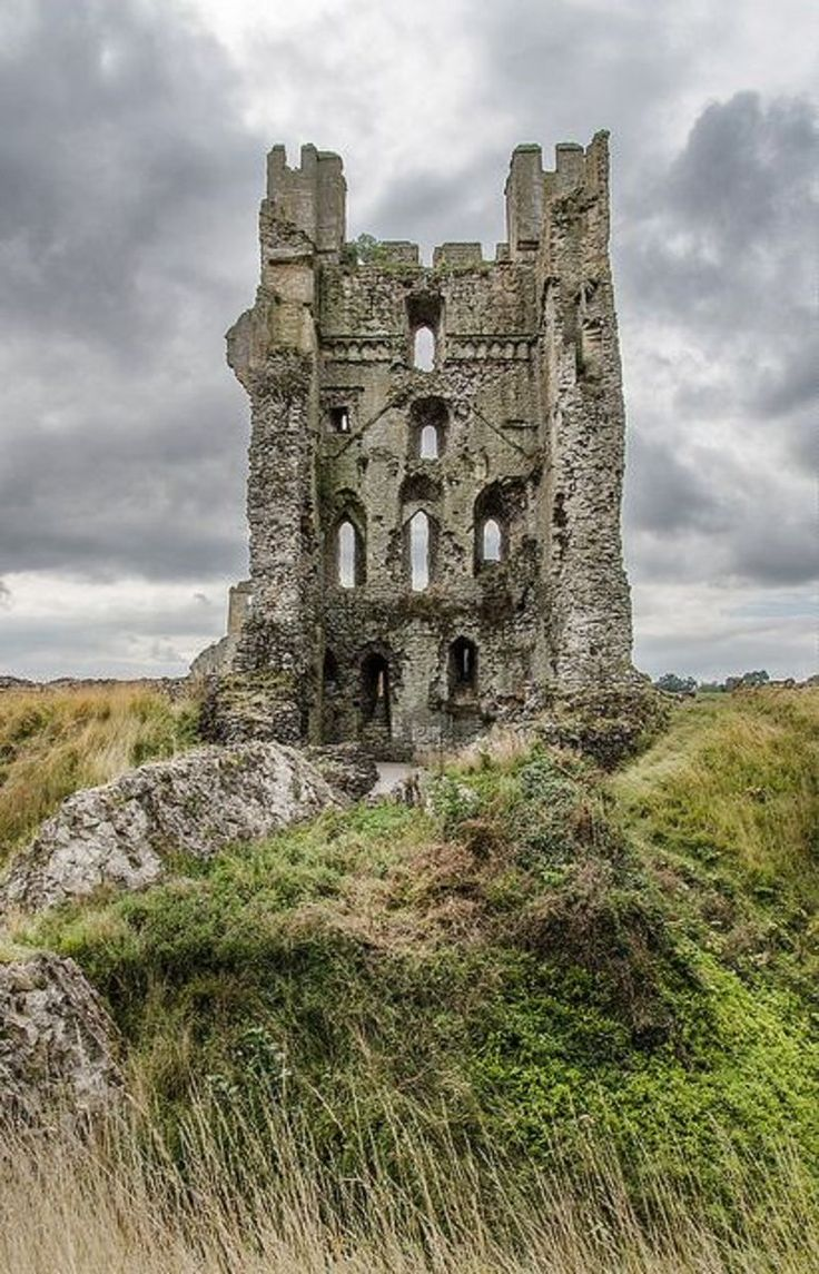 The East Tower or Keep at Helmsley Castle, Yorkshire, England