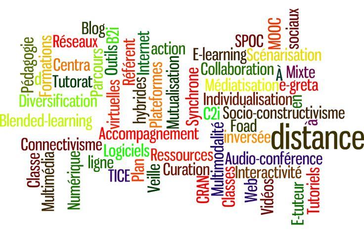 nuage de mots sur le numérique en formation