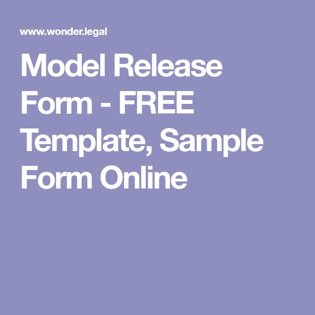Model Release Form - FREE Template, Sample Form Online