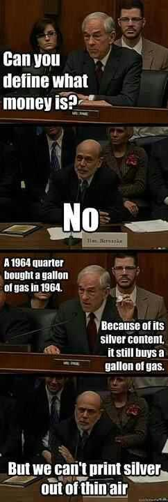 Ron Paul vs. Ben Bernanke Teach your children what money really is! BECAUSE THERE'S A WAR ON FOR YOUR MIND