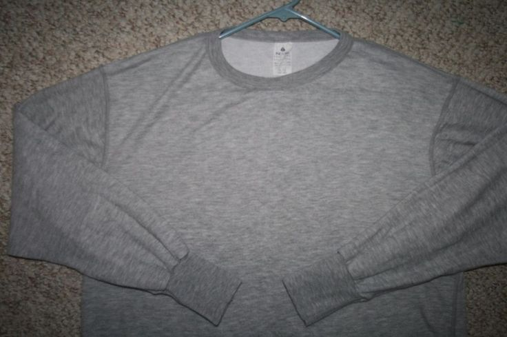Long Underwear Shirt XL Indera Gray Crewneck Mens Choice Men Extra Large Solid #Indera #sweatshirtcrewneck
