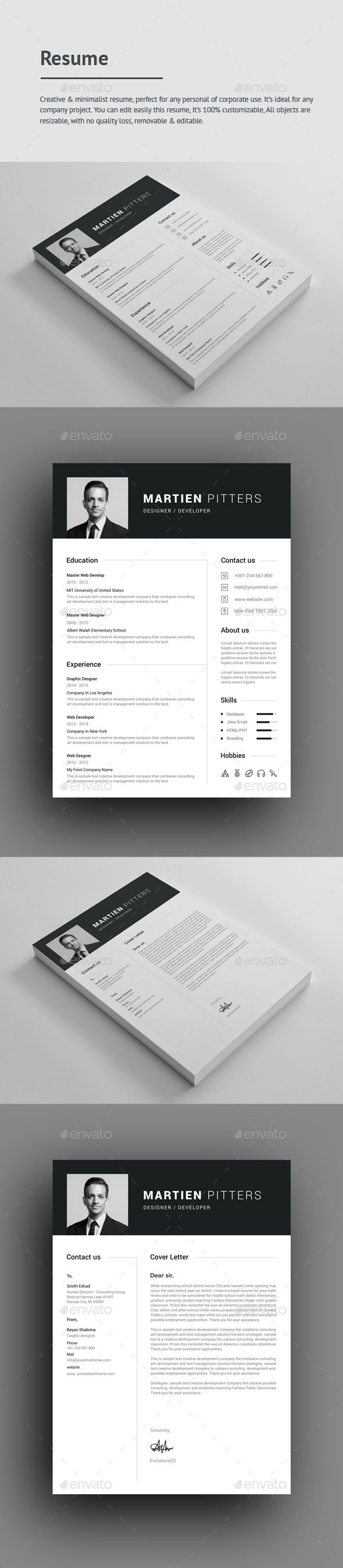 printable resume format%0A Buy Resume by GraphStyle on GraphicRiver  File Information Size print  dimension with bleed   guidelines  well layered organised  PSD