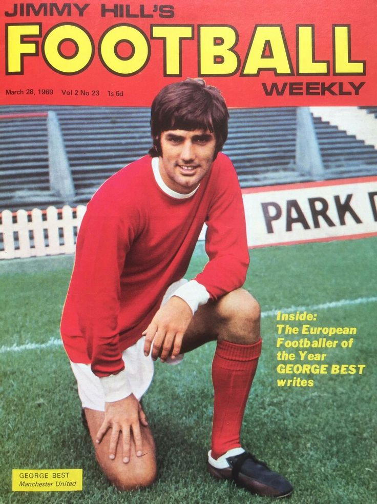 Jimmy Hill's Football Weekly for March 1969 featuring George Best of Man Utd on the cover.