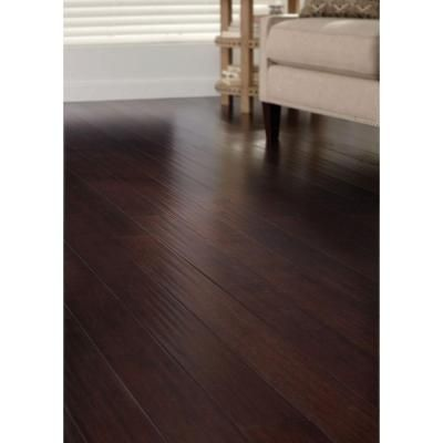 Home Decorators Collection Hand Scraped Strand Woven Walnut 3/8 In. T X  4.92 In. W X 72.83 In. L Engineered Click Bamboo Flooring