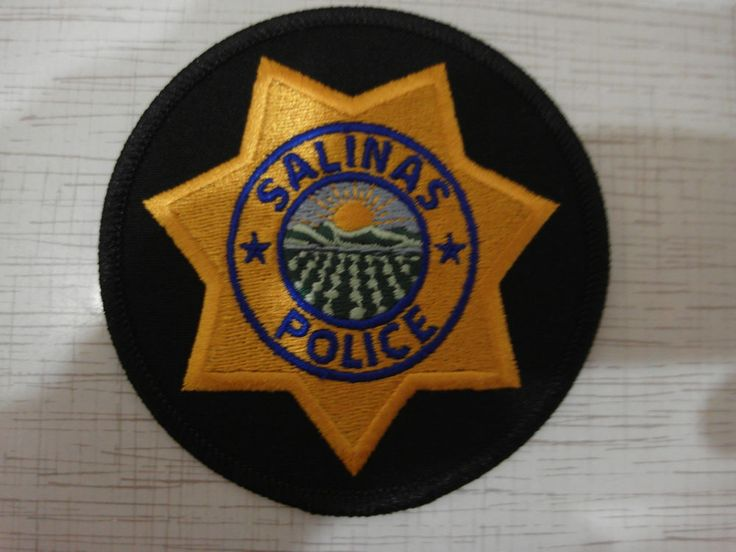 Patch police Salinas Police Department USA California New Rarity  | eBay