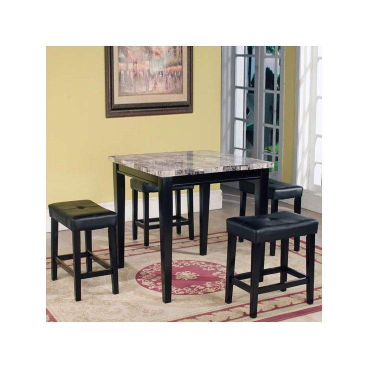 Margo Table/4 Stools | Furniture And Mattress Outlet