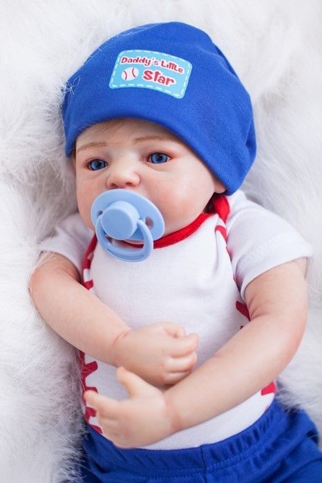 135.93$  Buy now - http://ali0gs.worldwells.pw/go.php?t=32743713118 - 50cm Soft Silicone Reborn Baby Doll Toy With Pacifier Newborn Boy Baby Doll Girls Brinquedos Birthday Gift Christmas Present