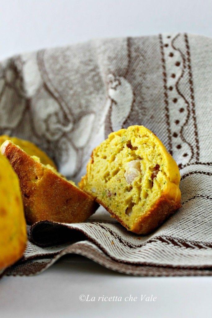 Muffin alle zucchine, pancetta e curcuma   La ricetta che Vale