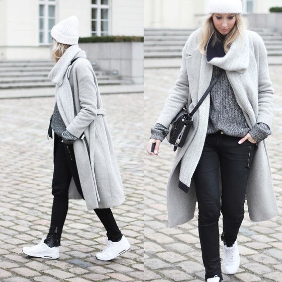 Get this look: http://lb.nu/look/5779193  More looks by Joyce Croonen: http://lb.nu/mydubio  Items in this look:  Sandro Beanie, Balenciaga Scarf, Cos Coat, Nike Sneakers, Iro Jeans, Alexander Wang Bag, Cos Sweater   #coat #cos #oversized #grey #knit #sneakers #allwhite #beanie #alexanderwang
