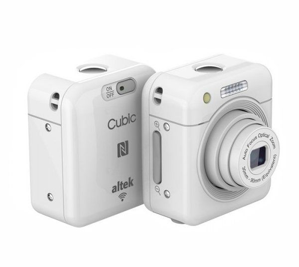 Altek Cubic is a smart mini wireless camera. This smart camera has an innovative picture-taking, which uses wireless (Wi-Fi or NFC) to control the cubic smart camera from your smartphone, and enables picture-taking from impossible angles. http://www.zocko.com/z/JEh3Y