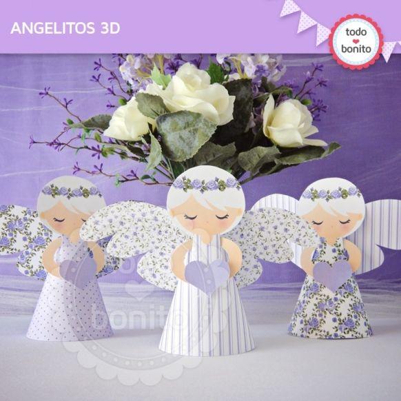 Shabby Chic Lila: angelitos 3D