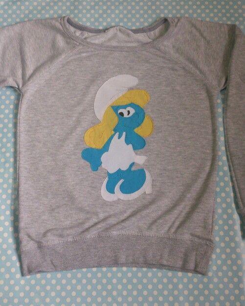 Camiseta patchwork hecha a mano