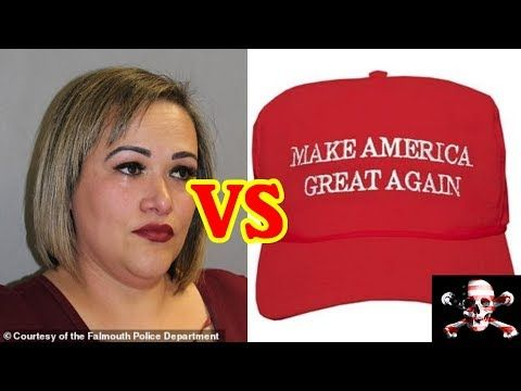 Woman Who Knocked MAGA Hat Off Mans Head Is An Illegal Immigrant