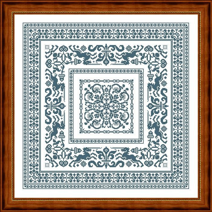 Cross stitch pattern or crochet 2 napkins by LenaCrossStich