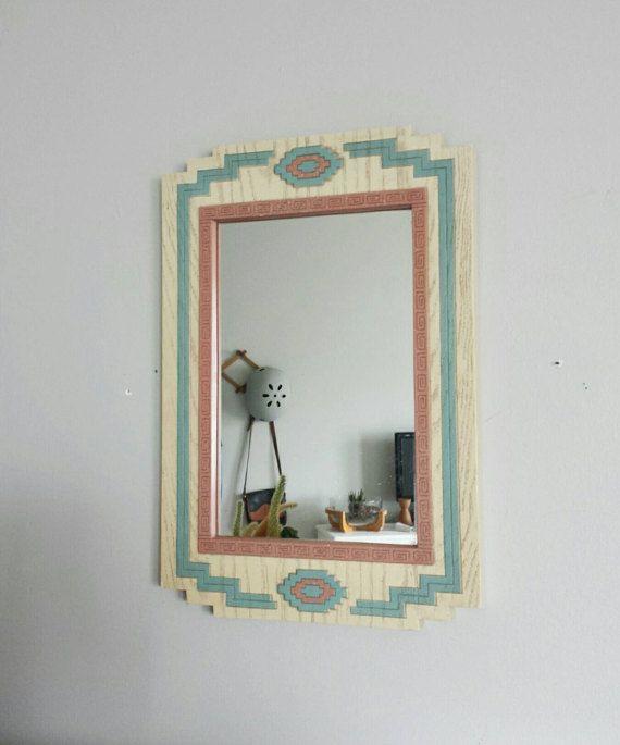 Wall Mirror Vintage Decorative by ShopMidCenturyModest on Etsy