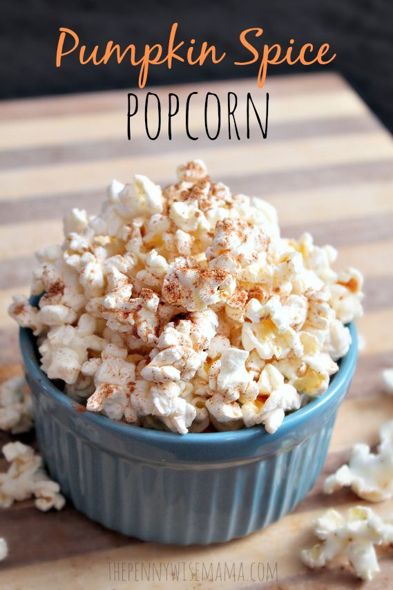This recipe for Pumpkin Spice Popcorn is healthy & delicious! #SkinnyGirlSnacks #shop