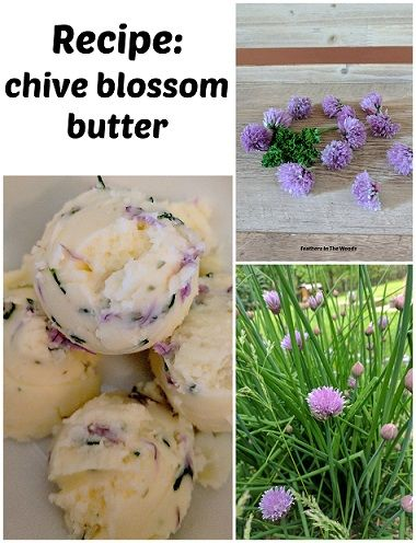 Make fresh chive blossom butter with homegrown herbs.