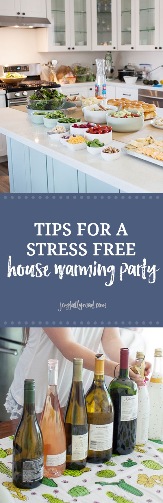 Hosting a house warming party soon? Here's how to meal plan, clean, and prep food for your own stress free house warming party!