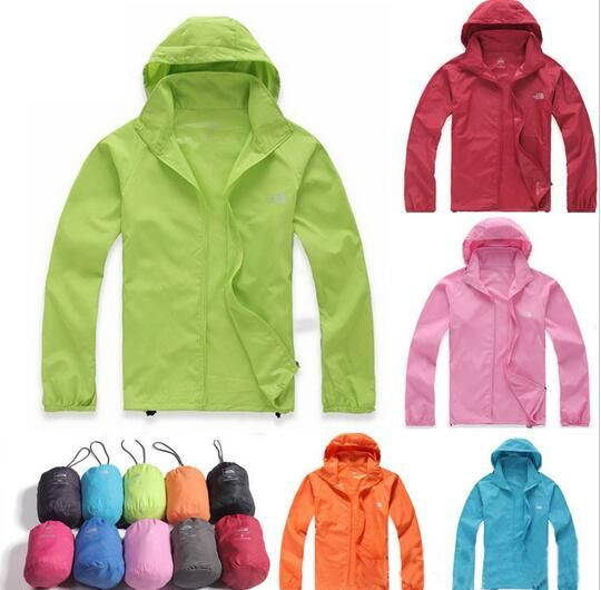 15 Color Best Selling Women Men Ultra-light Waterproof Jacket Quick-dry Clothes Skinsuit Outwear Plus Size XS-XXXL