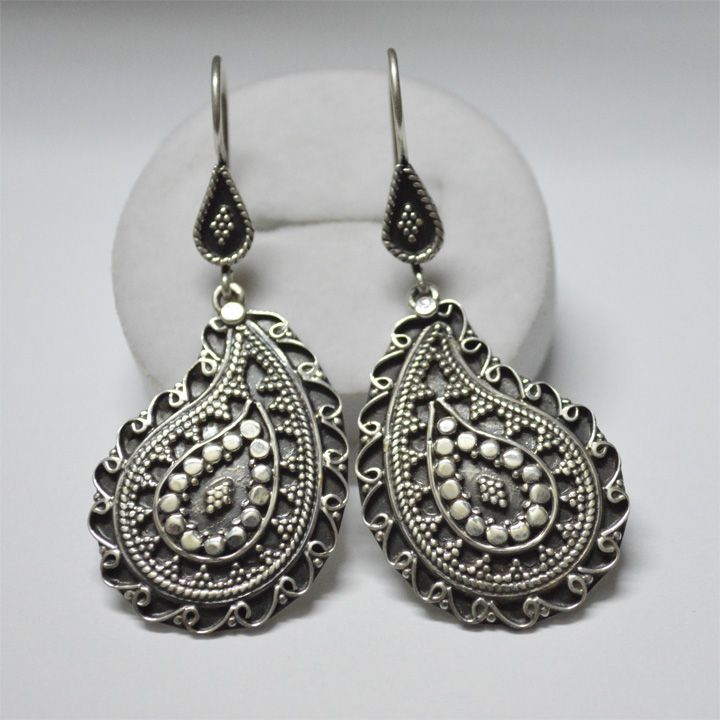 Labh Chandra Exports-Products |925 CARVING EARRINGS. Highly Handmade work
